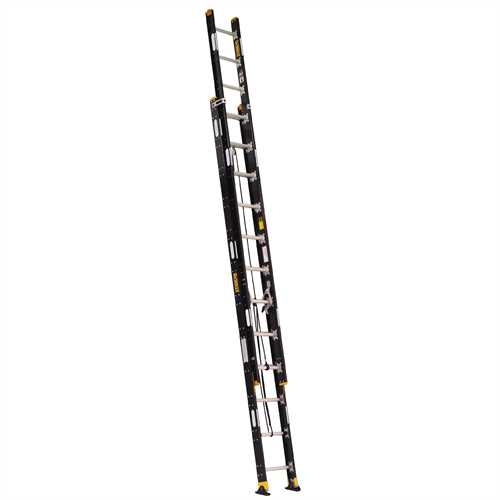 Dewalt 24 Lightweight Fiberglass Extension Ladder 300 Lbs